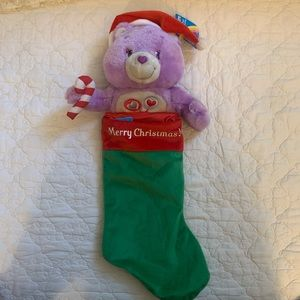 CARE BEARS Plush Christmas Stocking